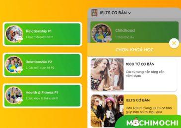 MochiMochi có các khóa học nào? MochiMochi có bao nhiêu từ?